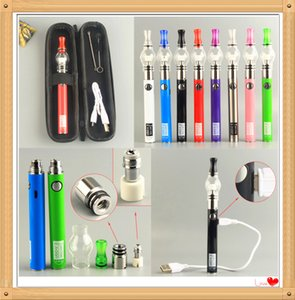 MOQ 5Pcs Dab Wax Vape Glass Globe Vaporizer Kits Micro USB Passthrough UGO-V II eCigs eVod Pens Dry Herb Starter Kit