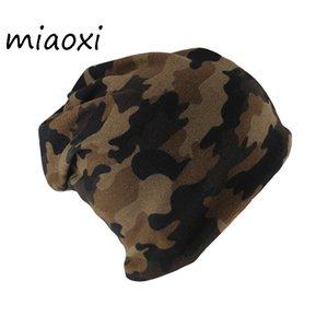 Miaoxi Mode Automne chaud écharpe Hip Hop Beanies Head Cap Casual adulte Armée vert tendre Femme Printemps Skullies Caps d'hiver