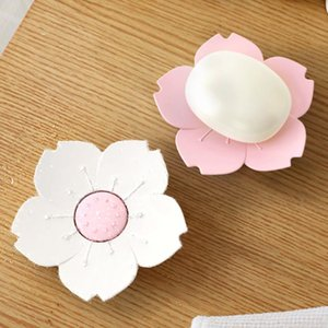 Draining Cherry Blossom Soap Dish Soap Box Plate Flower Cherry Blossom Plastic Box Holder