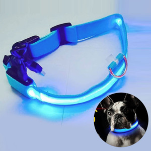 2019 USB Charging Led Dog Collar Anti-Lost Avoid Car Accident Collar For Dogs Puppies Leads LED Supplies Pet Products S M L XL