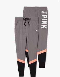Toptan Kadınlar Vs Harf Baskı Egzersiz Tozluklar Kadınlar Pamuk İnce Spor Legging Spor pantolon 02