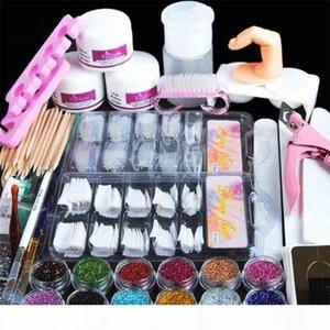 Acrylic Nails Set Nails Art Manicure Kit 12 Color Nail Glitter Powder Decoration Acrylic Pen Brush False Finger Pump Nail Art Tools Kit Set