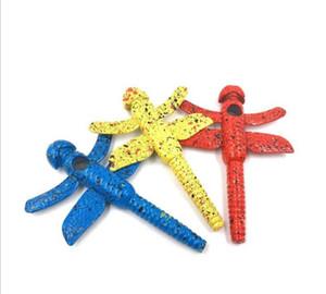 I produttori all'ingrosso innovativo Dragonfly pipe fashion color Dragonfly forma accessori per sigarette in metallo