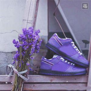 2019 Moda Tasarımcısı Kavramları x SB Dunk Düşük Pro QS Kaykay Ayakkabı Mor Istakoz CNPTS Elmas Su Rahat Spor Ayakkabı