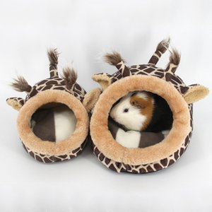 Plush Squirrel Hamster Cage Guinea Pig Chinchilla Small Animal Bed Nest House Hedgehog Hamster Pig Deer Bed Hamster Accessories