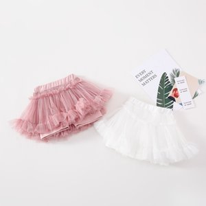 Fashion kids lace ruffle hot shorts 2020 summer new girls elastic waist lace tulle tutu skirt shorts children princess skirt shorts A2787