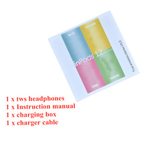 TWS 5.0 ınpods 12 Kablosuz Kulaklık ınpods12 Kulakiçi Bluetooth Kulaklık V5.0 Mikrofonlu Kulaklıklar pk H1 W1 TWS İ500 i200 i12