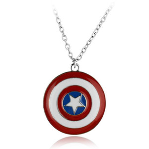 Kaptan Amerika Kolye Avengers Dönebilir Pentagram Pandantifler Kolye Moda Hediye Avengers Takı Aksesuar