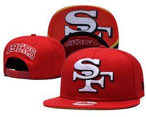 Il nuovo arrivo popolare VENDITA CALDA SF 49ER baseball Sport Cappelli registrabili per tutto l'ordine della squadra Mix vari colori degli uomini Caps Snapback piane