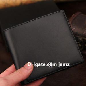 رجل الأعمال MB محافظ الشهيرة جلد طبيعي حامل اللقب رجال أسود قصير محافظ مع صندوق بطاقة الائتمان الرجل المحافظ ذكر محفظة جيب