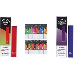 18 цветов одноразовые Pod Vapes устройство слоеные бары с кодом безопасности 280mah батарея емкость 1,3 мл Puffbar Vape pen пустой испаритель картридж
