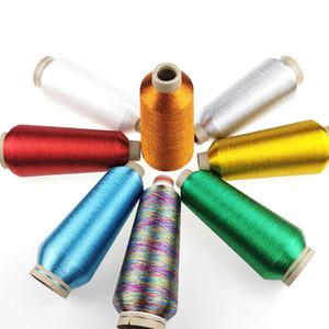 Sanbest 24 Farben Metallic Stickgarn für Brother Stickmaschine Gold Silber 5000M 125g Sewing DIY Patches TH00028