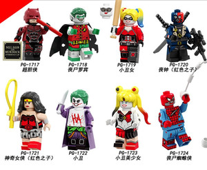 좀비 로빈 데스 스트로크 원더 우먼 할리 퀸 모델 어린이 장난감 PG8196의 zdl0629.