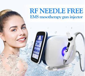 Neueste 3 in 1 EMS-Nadel frei Mesotherapie Injektion Gesichts lifing Gesichts Nano Meso weiß Serum No Pain Radiofrequenz Mesotherapie gun