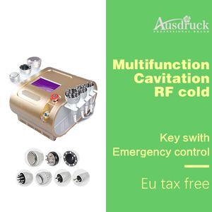 7in1 LED 40k Cavitation 무선 주파수 Vaccum RF 초음파 지방 제거 레이저 슬리밍 BIO Microcurrent machine