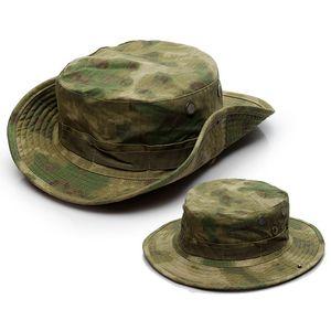 Army Tactical Hot Boonie Hat Uomini Camo Cap Paintball Sniper Secchio Caps Hunt pesca caccia esterna Cappelli