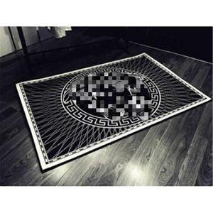 Padrão Branco Deusa preto Impresso Tapete Noble Tribunal Deusa estilo luxuoso Mat New 4 Temporada Carpet
