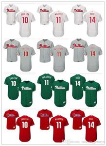 custom Men women youth Phillies Jersey #14 Pete Rose 11 Tim McCarver 10 Darren Daulton Red Black Grey White Kids Girls Baseball Jerseys
