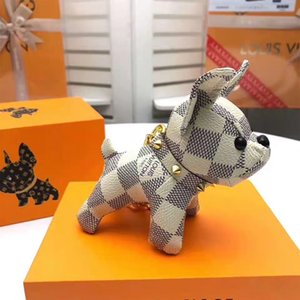 Marca Portachiavi progettista portachiavi per le donne del sacchetto della catena chiave dell'automobile Trinket monili del regalo di souvenir animale domestico di lusso cane miglior regalo portachiavi nessuna scatola