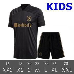 2020 Los Angeles FC Soccer Jerseys 2021 LAFC Carlos Vela Inter Miami Beckham Black Football Shirt LA Galaxy Chicharito kids kit uniform