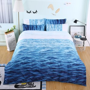 3d Sandy Beach Sea View Bedding Set Duvet Cover with Pillowcase Set Twin Cartoon queen size Comforter Set Drop Shipping