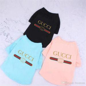 Lettera Classic Estate Pet T-shirt di moda stampati Designer animali Camicie Outdoor Street Style Chai Keji Dog Apparel
