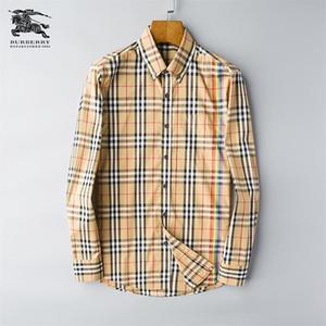 Marca de los hombres de negocios camisa informal para hombre de manga larga a rayas slim fit camisa masculina social masculina camisetas nueva moda hombre comprobado camisa # P4