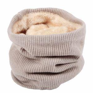 Gros-10pcs / Lot Mode Automne Hiver Infinity Scarf femmes hiver chaud tricot cou Cercle Laine solide Cowl Snood