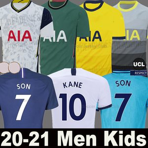 (20 개) (21) 토트넘 KANE 아들 축구 유니폼 라멜라 루카스 DELE ERIKSEN NDOMBELE 2020 2021 스퍼스 셋째 축구 셔츠 남성 + 어린이 키트 세트 유니폼