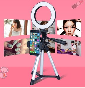 Mobile phone live broadcast bracket tripod with supplementary light equipment camera artifact