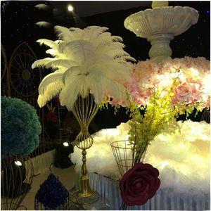 Piume di struzzo piume colorate piume per artigianato forniture per costumi da tavola centrotavola compleanno matrimonio 12 colori scegliere XD20708