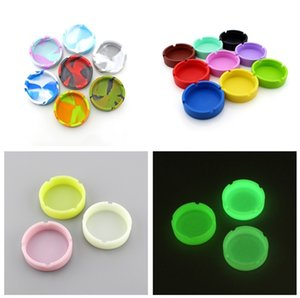 19 Styles Silicone Ashtray Creative Round Silicone Ashtray Anti-shock Smoke Ash Tray Fashion Environmental Hotel Home KTV Ashtray