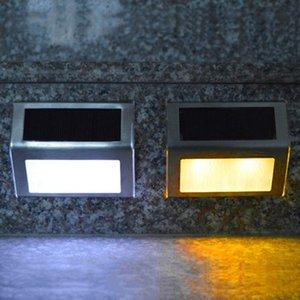 Vente en gros 3 LED d'extérieur en acier inoxydable étanche Lampes solaires de jardin Pathway Stairs lampe LED Lights Panneau solaire Applique escalier d'éclairage