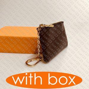 M62650 bolsa de la llave POCHETTE CLES Diseñador titular de la tarjeta de crédito de moda para mujer para hombre del anillo dominante de cremallera monedero de lujo Mini Monedero del encanto del bolso