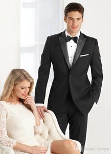 Men Suits 2018 Wedding Suits Black Summer Beach Slim Fit Groom Tuxedos Bridegroom Wedding Dress Handsome Men Blazer 2 Pieces (Jacket+Pants)