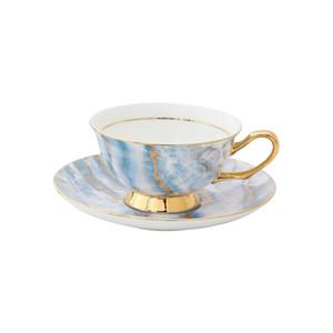 Тонкая керамическая кружка кофе и блюдце английского костяного фарфора полдник еврокубке небольшой социальный кофе набора чашки