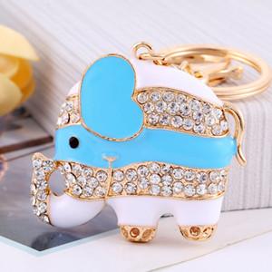 Sparkling Keyring Crystal Purse Pendant Rhinestones Love Heart Key Chain Super Cute Big Ears Elephant Keychain
