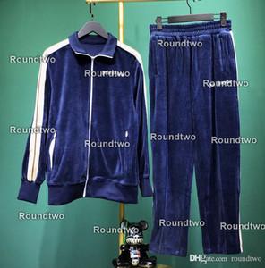 2020 Costumes Survêtement velours côtelé hommes costume de piste Palm hoodie manteau veste hommes manteau de survêtement de luxe sweat-shirt Anges de sport