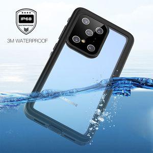 para Samsung Galaxy S20 Plus Ultra Caja IP68 a prueba de agua S20 + Submarinismo Swim cubierta protectora a prueba de polvo
