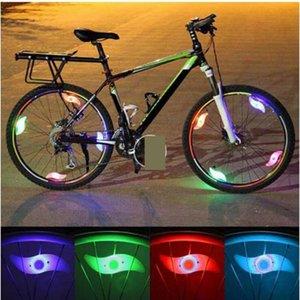 Bicicleta falou salgueiro Lamp Firewheel flash Tire Taillight Led fio Multi Color Shaped equitação noite Advertência de Segurança bicicleta elétrica