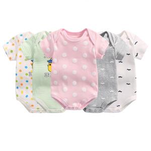 3pcs / lot Baby Girl Bodysuits recém-nascido Onesie manga curta bebê Algodão Bodysuit para meninos Qualidade Bodysuit Roupa presente Meninas