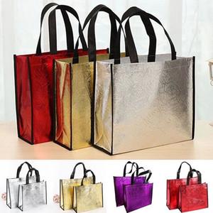 Мода Лазерная хозяйственная сумка складная Эко сумка Большие многоразовые сумки Tote водонепроницаемой ткани Нетканые продажа сумка Нет Zipper Hot