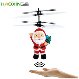 Haoxin Летучий индуктивный Mini RC Drone Рождество отец Санта Клаус RC вертолет подарки магия Рождественский подарок SRC Aircraft для детей мальчиков