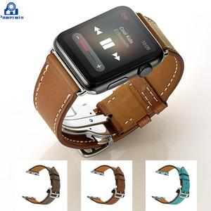 Powerwin новые 38 мм 42 мм складная пряжка коровья кожа ремешок для iWatch apple замена классическая пряжка браслет для Apple Watch ремешок