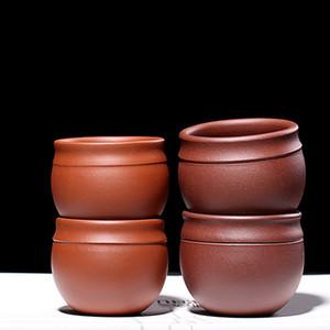 Caneca roxa argila Tea Cup Red Mestre Tea bacia Yixing Teacup xícaras de água de café Copos Teaware presente Ceramic Teacups