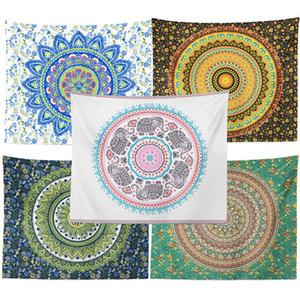 Estilo boho tapicería de la pared cómodo suave toalla de poliéster Beach Plaza Imprimir la decoración del hogar Manta Bohemia colgar de la pared de la alfombra VT0795