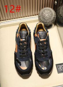 2020 новая дизайнерская обувь Rockrunner камуфляжная ткань Nappa sneaker натуральная кожа мужские женские квартиры роскошные кроссовки размер 35-45 10A