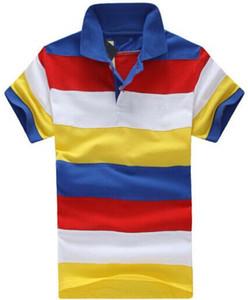 Listrado Moda EUA Casual Polo Homens Dazzle T-shirt do arco-íris pônei pequeno colorido do bordado lapela algodão RL Polos Número 2 White