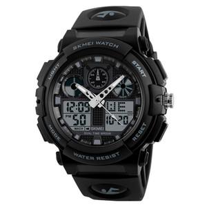 SANWOOD новый открытый мужской секундомер водонепроницаемый будильник дата спортивные аналоговые цифровые наручные часы мода мужские часы
