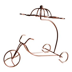 New Delicate Red Wine Bottle Glasses Holder Hanging Upside Down Cup Goblets Display Rack (Bronze)